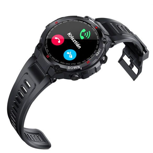 DaFit K22 pulzus-, vérnyomás- és véroxigénmérő multisport okosóra, Fekete