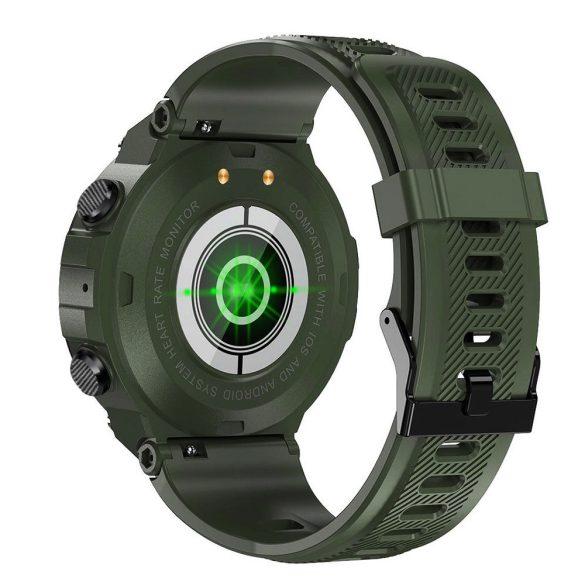 DaFit K22 pulzus-, vérnyomás- és véroxigénmérő multisport okosóra - Sötét zöld