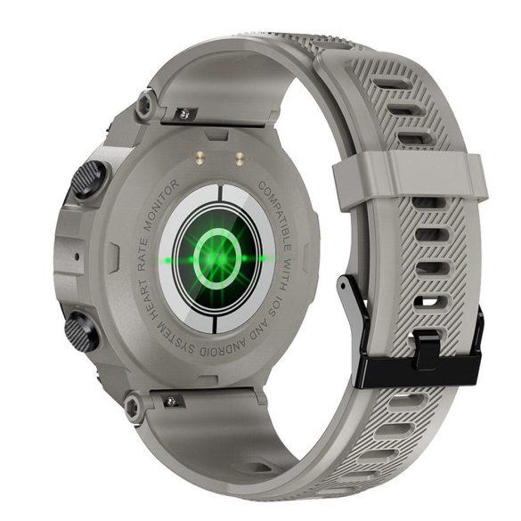 DaFit K22 pulzus-, vérnyomás- és véroxigénmérő multisport okosóra - Világos szürke