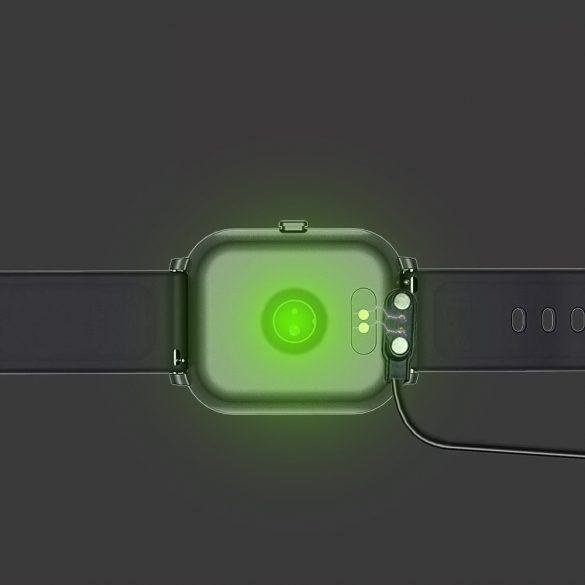 DaFit P8 pulzus-, vérnyomás- és véroxigénmérő multisport okosóra - Fekete