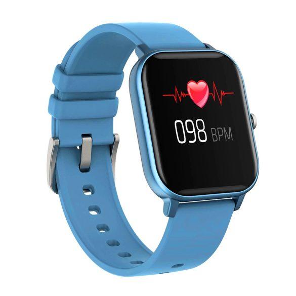 DaFit P8 pulzus-, vérnyomás- és véroxigénmérő multisport okosóra - Kék