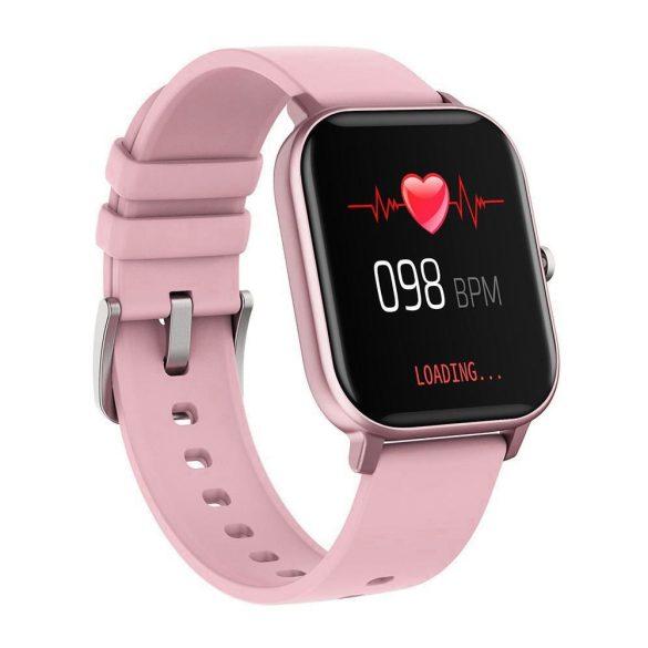 DaFit P8 pulzus-, vérnyomás- és véroxigénmérő multisport okosóra - Pink