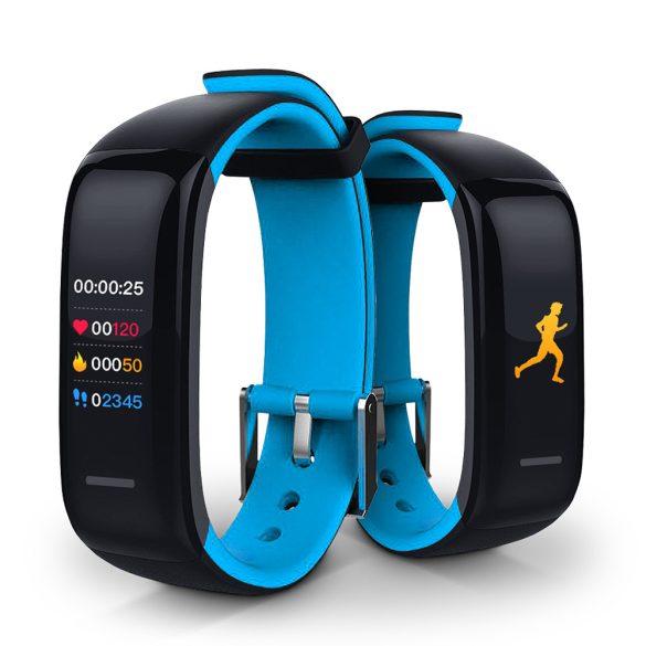ProWear Band P1 pulzus- és vérnyomásmérő IP67 vízálló okoskarkötő magyar nyelvű alkalmazással - Kék