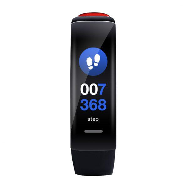 ProWear Band P1 pulzus- és vérnyomásmérő IP67 vízálló okoskarkötő magyar nyelvű alkalmazással - Piros