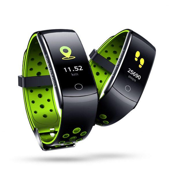 ProWear Band Q8 pulzus-, vérnyomás- és véroxigánmérő vízálló okoskarkötő - Zöld