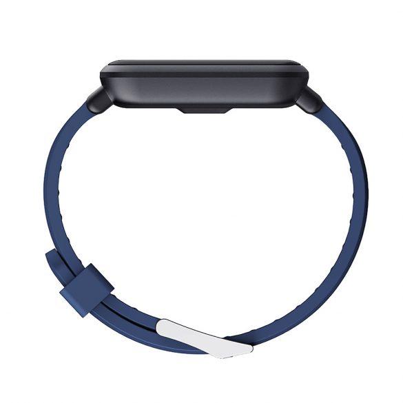 ProWear Q9 pulzus- és vérnyomásmérő multisport okosóra ajándék pótszíjjal, magyar nyelvű alkalmazással - Fekete + Kék
