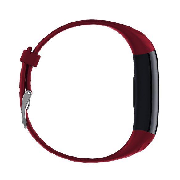 ProWear Band S5 pulzus-, vérnyomás- és véroxigénmérő multisport vízálló okoskarkötő magyar nyelvű alkalmazással - Piros