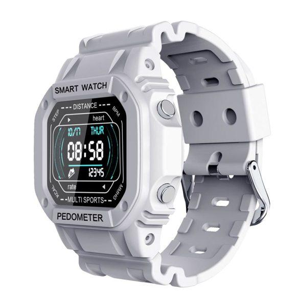 ProWear i2 pulzus-, vérnyomásmérő és SpO2 monitor multisport IP68 vízálló okosóra magyar nyelvű alkalmazással - Fehér