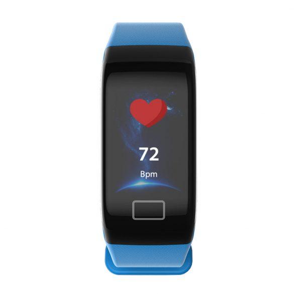 WearFit F1 Plus pulzus-, vérnyomás- és véroxigénmérő okoskarkötő - Kék