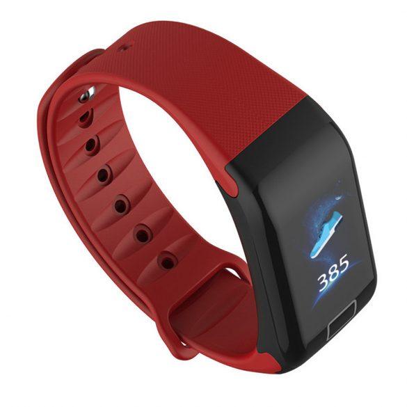 WearFit F1 Plus pulzus-, vérnyomás- és véroxigénmérő okoskarkötő - Bordó